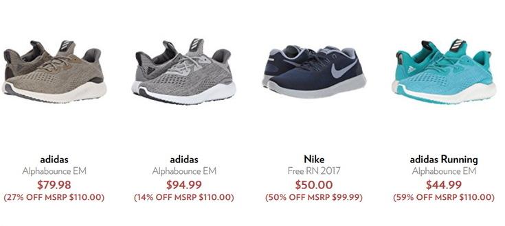 b823296c1b3bbe А на 6pm.com ті самі кросівки можна купити за $59.96. З огляду на доставку,  економія знову виходить близько 1000 гривень!
